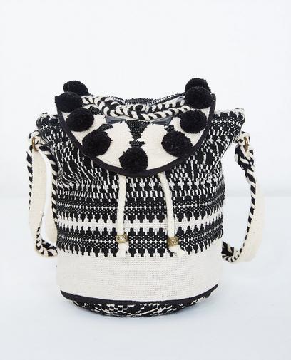 Zwart-witte schoudertas